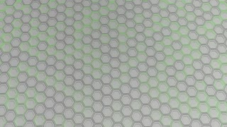 0170 Wall Of White Hexagons With Green Glow
