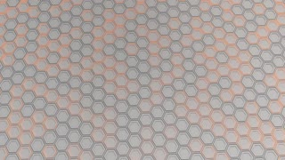 0182 Wall Of White Hexagons With Orange Glow