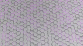 0194 Wall Of White Hexagons With Purple Glow