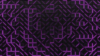 0330 Wall Of Black Rectangle Tiles With Purple Glowing Elements