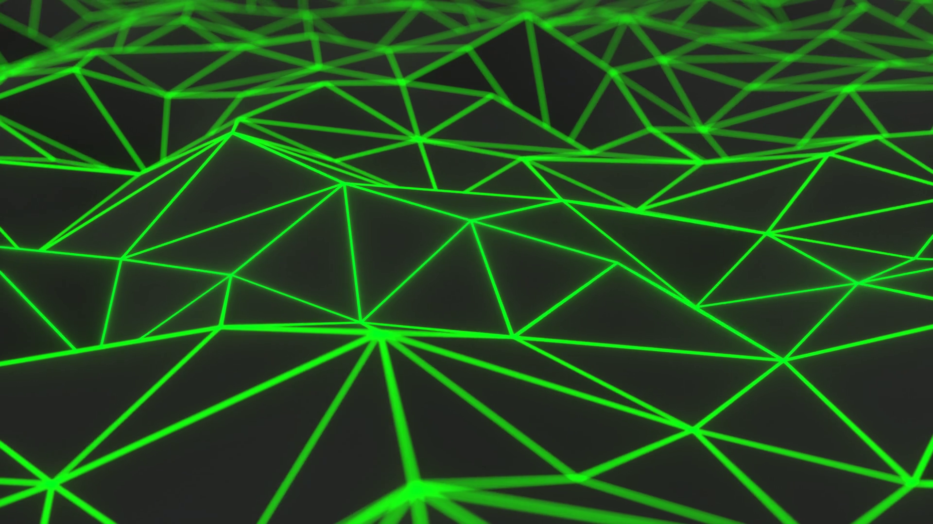 Green Neon Lines Background