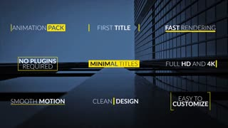 Minimal Elegant Title Animation Pack