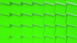 Rotating Green Cubes Background