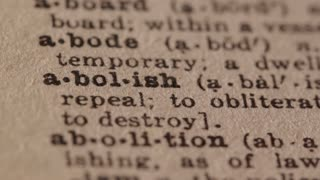 Abolish - Fake dictionary definition of the word with pencil underline