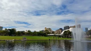 Adelaide, South Australia. Adelaide city and the Adelaide Park Lands which surround North Adelaide and the city centre.