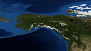 Alaska from space slow zoom