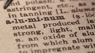 aluminum - a silvery ductile metallic element found primarily in bauxite