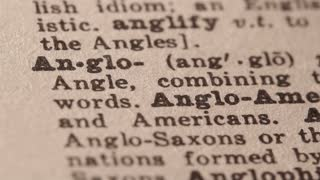 Anglo - An English-speaking person, especially a white North American who is not of Hispanic or French ancestry.