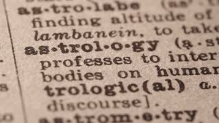 Astrology - Fake dictionary definition of the word with pencil underline