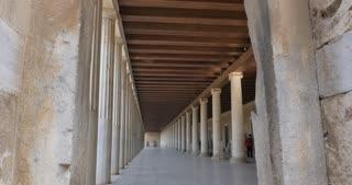 Athen Greece - Agora of Athens Museum - Hellenistic Stoa of Atallos