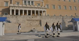 Athens Greece - Changing of the Guards, Evzones Hellenic Army