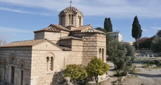Athens Greece Church of the Holy Apostles at the Ancient Agora