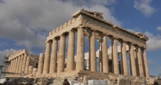 Athens Greece Parthenon temple on Athenian Acropolis