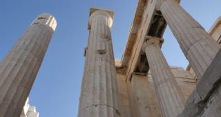 Athens Greece Propylaea, Parthenon temple on Athenian Acropolis