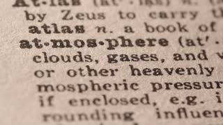 Atmosphere - Fake dictionary definition of the word with pencil underline