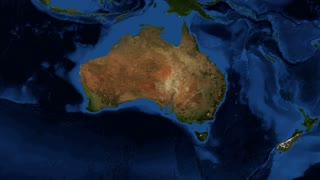 Australia from space slow zoom