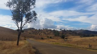 Australian Landscape Rural Country Road Establishing Shot