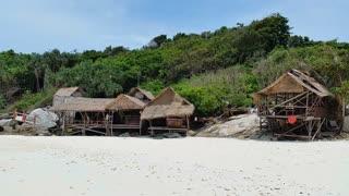 Beach Huts Racha Island Thailand Beach