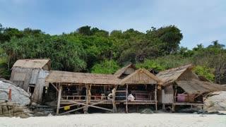 Beach Huts Racha Island Thailand
