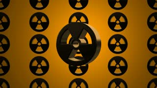 Black Spinning Nuclear Radioactive Radiation Symbol Logo