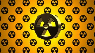 Black Yellow Nuclear Radioactive Radiation Symbol Logo