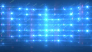 Blue Lights Flashing Concert Stage Sports Stadium Background