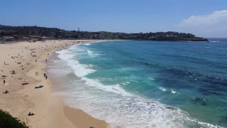 Bondi Beach or Bondi Bay is a popular beach on a hot summers in Sydney, Australia on January 22, 2015. It is one of Australia's most popular beaches.
