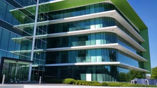Building establishing shot modern architecture office business exterior