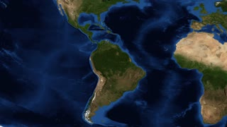 Central America from space - zoom Central America is the central geographic region of the Americas. It is the southernmost, isthmian portion of the North American continent, which connects with South America on the southeast.mp4