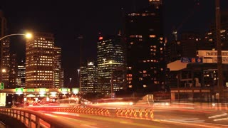 City Rush Hour Timelapse Traffic Congestion City Street Night. Streets of Sydney City Australia but would suit any generic city street scene.