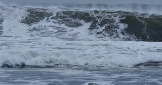 Climate change massive waves stormy sea with big swells