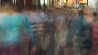 Commuter City Street Crowd Time Lapse - 4K