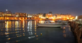 Crete Greece - The Venetian harbour of Heraklion Timelapse