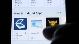 Editorial: Browse mobile app store on smart phone device