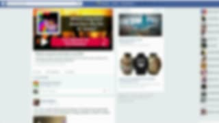 Facebook online social networking service screen blurred background