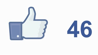 Facebook social media like 'likes' button number counter