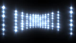 Flashing Blue Wall of Lights Concert Stage Sports Stadium Background