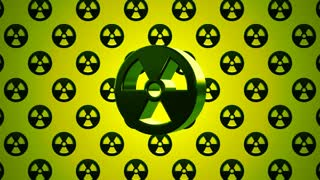 Green Nuclear Radioactive Radiation Symbol Logo