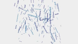 Hand shake Company business managment word cloud typography animation