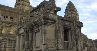 Hindu tourist landmark of Angkor Wat Cambodia ancient civilization temple