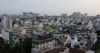 HO CHI MINH / SAIGON, VIETNAM - 2015: Asia growth buildings offices apartments