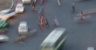 HO CHI MINH / SAIGON, VIETNAM - 2015: Time lapse street traffic asian city
