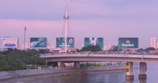 HO CHI MINH / SAIGON, VIETNAM - NOVEMBER 2015: Timelapse Asia City Traffic