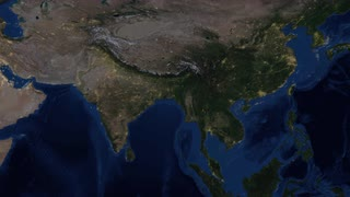 India Lights from space zoom. India, officially the Republic of India, is a country in South Asia. It is the seventh-largest country by area, the second-most populous country - zoom