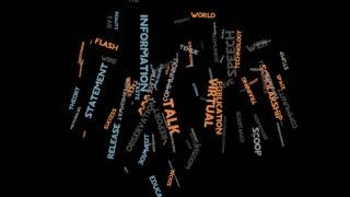 Information language communication marketing word cloud typography animation