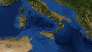 Italy from space - slow tilt Italy, officially the Italian Republic, is a unitary parliamentary republic in Southern Europe. To the south, it consists of the entirety of the Italian Peninsula and the two biggest Mediterranean islands