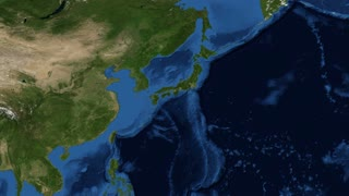 Japan from space slow zoom. Japan is an island nation in East Asia. Located in the Pacific Ocean, it lies to the east of the Sea of Japan