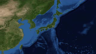 Japan from space slow zoom Japan is an island nation in East Asia. Located in the Pacific Ocean, it lies to the east of the Sea of Japan