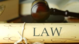 Lawyer attorney barrister law settlement in court magistrate judge gavel