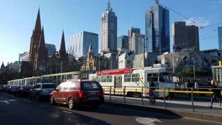 Melbourne City Streets Victoria Australia
